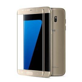 三星S7edge鋼化膜 電鍍3D曲面全屏覆蓋膜 電鍍熱彎曲玻璃螢幕保護貼 還原色彩玻璃手機
