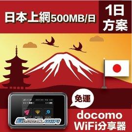 GLOBAL WiFi 亞洲行動上網分享器  docomo 4G 500MB 天