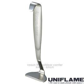 【日本 UNIFLAME】日本製 不鏽鋼荷蘭鍋刮刀.除物刀.鍋巴去除器/去除鍋具鍋巴.焦物沾黏用/661260