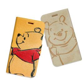 Apple iPhone 7 plus 5.5吋 i7+ 迪士尼授權正版 手繪壓印磁力皮套(雙面維尼)
