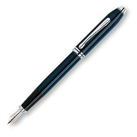 高仕CROSS-鋼筆-濤聲系列-616-1-藍亮漆