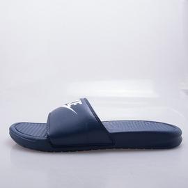 NIKE  BENASSI JDI LOGO 拖鞋-藍/白 343880403