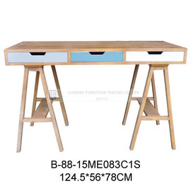B~88~15ME083C1S 仿舊三抽小書桌 ~ 藝所 家飾館  傢俱  燈飾  壁飾