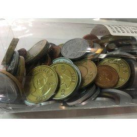 sns 古早味 懷舊童玩 玩具 假錢 硬幣 塑膠硬幣 1罐185元