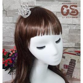 小皇冠鑽髮插 髮型 鑽王冠髮飾 金屬鑽皇冠 自助婚紗 新娘秘書 婚紗照 結婚新娘伴娘~CS
