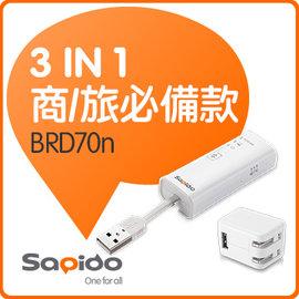 SAPIDO BRD70n 精巧型網卡、無線網卡、無線分享三享機