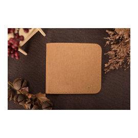IMY0034 可水洗牛皮紙--好踏實方塊短夾 / 文創商品
