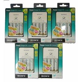 SONY BCG~34HH4KN 經濟低自放電2100mAh電池充電組  品  5組
