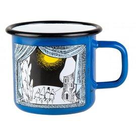 【芬蘭Muurla】嚕嚕米系列-嚕嚕米峽谷的冬天琺瑯馬克杯370cc 藍色 咖啡杯 琺瑯杯