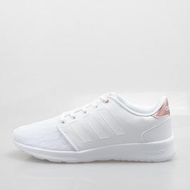 ADIDAS  CLOUDFOAM 記憶鞋墊 輕量 柔軟 慢跑鞋-白 AW4018
