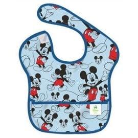 【紫貝殼】『SU12-1』美國 Bumkins防水兒童圍兜(一般無袖款6個月~2歲適用)-藍米奇 BKS-994534【保證公司貨】