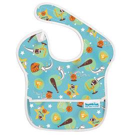 【紫貝殼】『SU12-2』美國 Bumkins防水兒童圍兜(一般無袖款6個月~2歲適用)-星星 BKS-986805【保證公司貨】