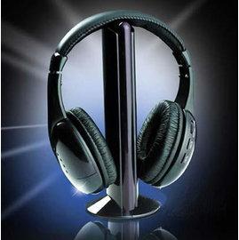 新竹市 Wireless Headphone AV端子 3.5mm 五合一 FM收音機 頭戴式 無線耳機 (可無線連接電視)