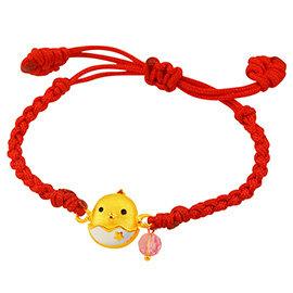 甜蜜約定金飾~寶貝蛋~黃金編織手鍊^(兒童配戴^) 彌月金飾 滿月禮 生肖