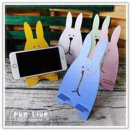 【Q禮品】B3140 木質可愛兔手機架/手機支撐固定架/手機座/平板支架/懶人架/手機座/名片架/可拆式