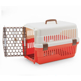 ~強棒寵物 火速出貨~皇冠新型雙色寵愛籠^(小^)644A寵物提籠 外出提籠 運輸籠 手提