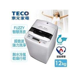 A0261~東元TECO~10kg晶鑽內槽超音波單槽洗衣機 W1028UN