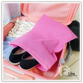 【Q禮品】B3124 素色無紡鞋袋-大/鞋子收納包/收納袋/旅行收納袋/衣物整理袋/分類袋/束口袋/布袋