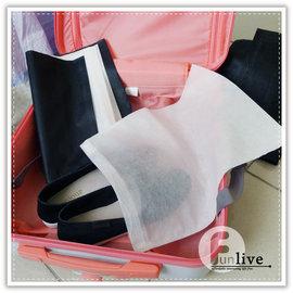 【Q禮品】B3125 黑白無紡鞋袋-無束口/鞋子收納包/收納袋/旅行收納袋/衣物整理袋/分類袋/束口袋/布袋