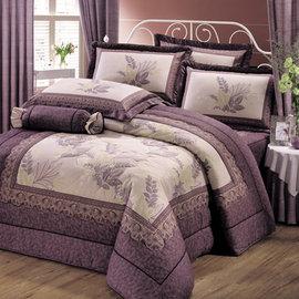 ~幸運草~葉香羅蘭 雙人 精梳棉ABC版八件式床罩組