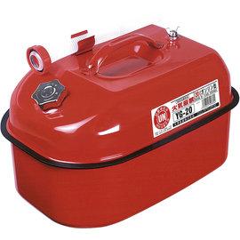 【日本 YAZAWA】20公升防撞防爆攜帶式儲油桶(紅).汽油桶.油箱.coleman汽化爐/Petromax汽化燈/農機具可用 YG-20