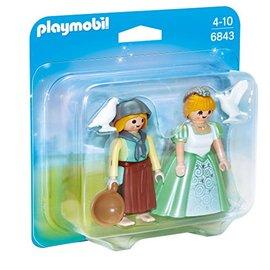 Playmobil 摩比 6843 公主與養鴿女吊卡