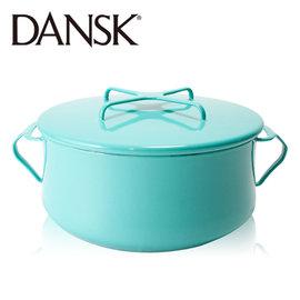 ~丹麥DANSK~18.5cm 雙耳琺瑯燉煮鍋 ^(湖水綠^)