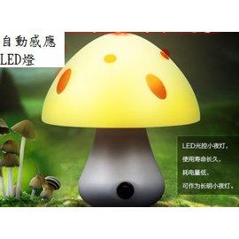 新竹市 全自動感應燈 LED燈 光控小夜燈/節能燈/感應燈/壁燈/床頭燈 (220V/110V通用) **蘑菇頭**