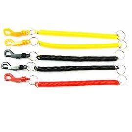 新竹市 P字扣 塑膠扣 塑膠繩 伸縮繩 彈簧繩鑰匙圈 伸縮筆扣 **20CM-中粗黑色*