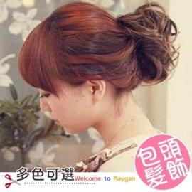 日系包包頭 頭花髮圈 大花卷包包頭 新娘造型 橡皮筋 髮圈式 【HH婦幼館】