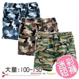 大童 男迷彩褲 短褲 夏季褲子 100-150【HH婦幼館】