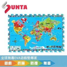 ~SUNTA無毒拼接墊~小小地球EVA樂扣遊戲墊~32^~32^~1cm^(6片裝^)~地