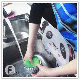 【Q禮品】A3157 動物造型防濺檔板/貓熊擋板/洗碗槽防濺/擋水板/吸盤擋水板/防水板/防油板/隔水板/廚房用品/洗碗