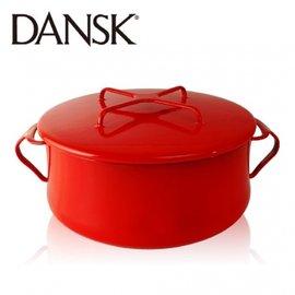 ~丹麥DANSK~18.5cm 雙耳琺瑯燉煮鍋 ^(火山紅^)