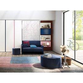 禾丰-Altea Book Sofa 90' 素面单人正掀床组(附沙发+内含层板书架)