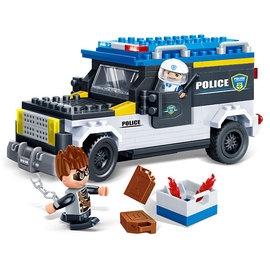 ~BanBao邦寶積木~新警察系列~警用巡邏迴力車 242pcs(樂高 )#7005