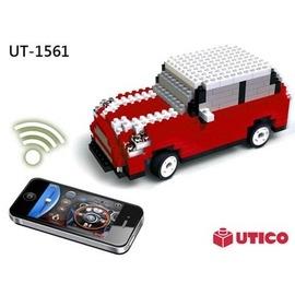 ~UTICO微型積木~智慧手機遙控積木車-MINI 古博  遙控車 1561