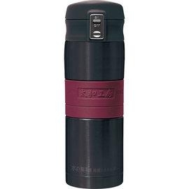 太和工房負離子能量彈扣式保溫瓶MD【350ml】黑紅色