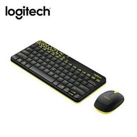 ~綠蔭~全店 ~羅技 MK240 Nano無線鍵鼠組 黑色 黃邊