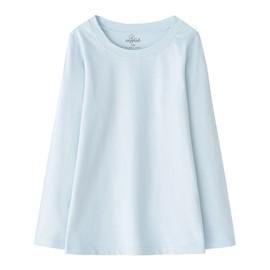 zenfab 超彈力有機棉兒童長袖上衣~水藍