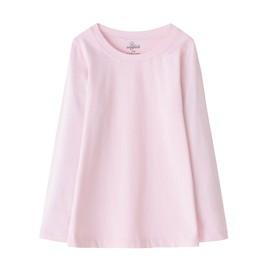 zenfab 超彈力有機棉兒童長袖上衣~粉紅