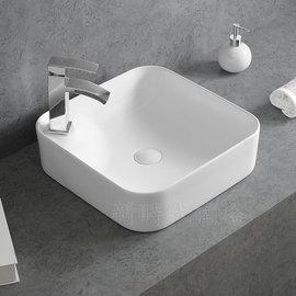 新時代衛浴  美國KARAT台上臉盆43cm,方型薄邊款式#1937