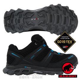 【瑞士 MAMMUT 長毛象】男新款 MTR 71 Trail Gore Tex 超輕量透氣多功能運動休閒鞋/登山健行/Gripex鞋底/3040A024  藍/黑