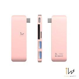 innowatt DOCK USB 3.1 Type C Hub 多 充電傳輸集線器~玫瑰