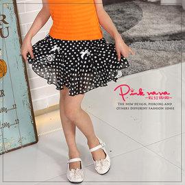 ~妮妮親子 ~PINKNANA 圓點雪紡短裙 ^(媽媽也可穿喔^!^) 27152 尺寸: