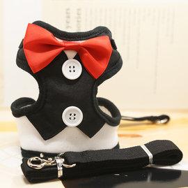 DP雜貨鋪 寵物超帥氣禮服西服 背帶牽引繩套裝 貓狗用品