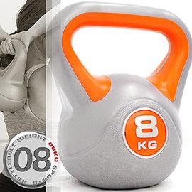 KettleBell 8公斤壺鈴 17.6磅 8KG壺鈴 C171~1808 拉環啞鈴搖擺