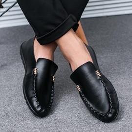 男士休閒鞋軟底豆豆鞋潮鞋潮流系帶駕車鞋懶人鞋 男鞋N17 型男部落