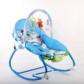 新生嬰兒寶寶搖椅躺椅安撫椅搖籃床椅電動搖搖椅哄睡神器兒童搖椅N17 型男部落