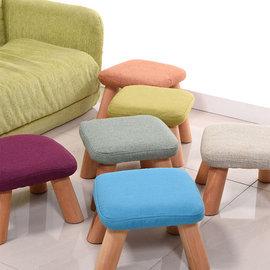 5Cgo ~ 七天交貨~535998735167 小凳子方凳實木 方凳布藝沙發凳子茶幾凳成